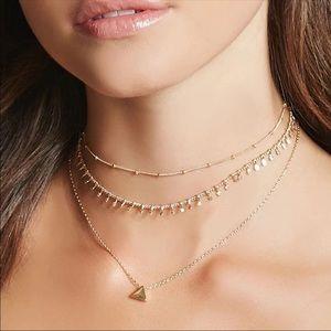 Jewelry - 🆕 • Lena • Layered Geometric Necklace